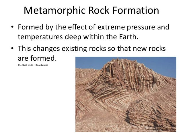 metamorphic rock essay Checkpoint: metamorphic rocks metamorphism occurs when there is a mineralogical, textural, chemical, and structural change in rocks that happens when rocks are exposed to high temperatures and pressures metamorphic rocks originate from beneath the earth's continental curst and above the earth's mantel (murck, skinner, mackenzie.