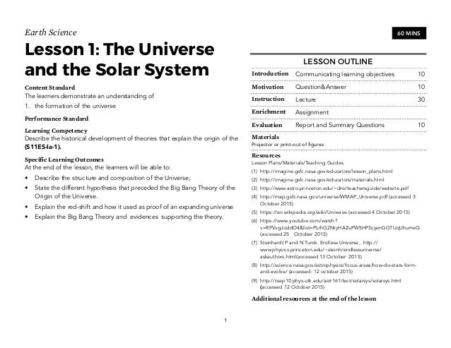 Earth science worksheets for high school