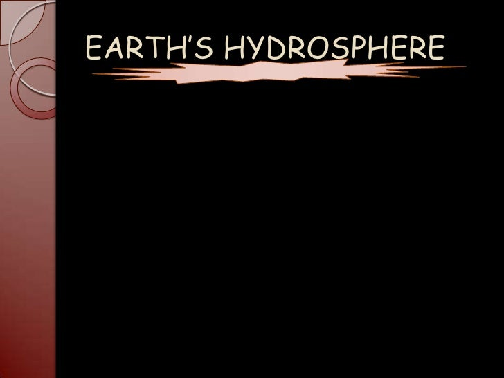 Earth's hydrosphere