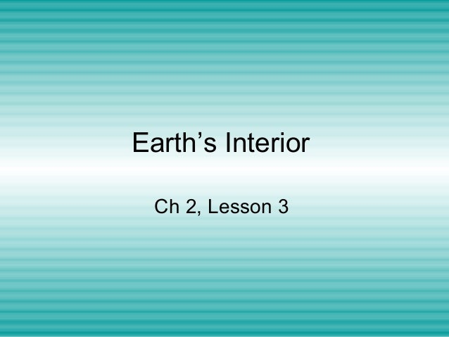 Earth Science: Earth's interior