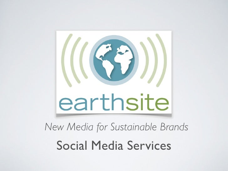 New Media for Sustainable Brands   Social Media Services