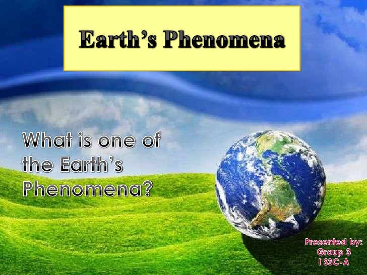    Now we shall try to explain some observable    events on the earth's surface from an    understanding of the earth's i...
