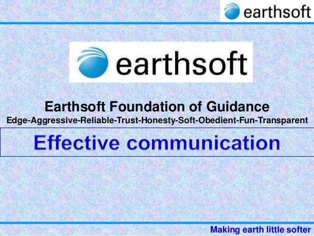 Earthsoft brief-communication tips