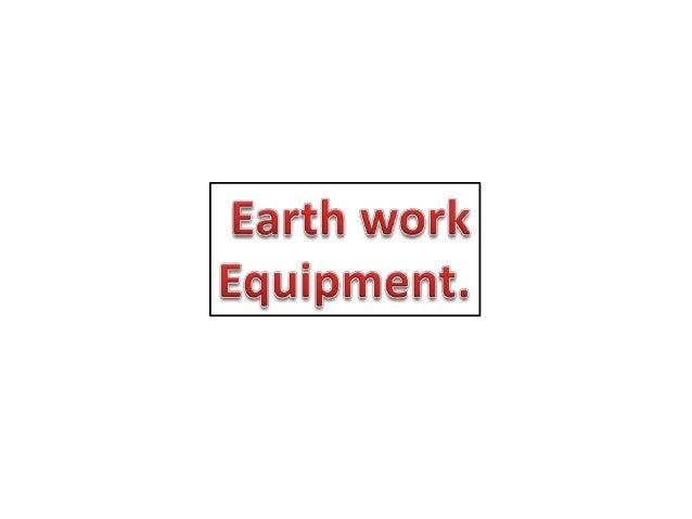 Earth work equipment