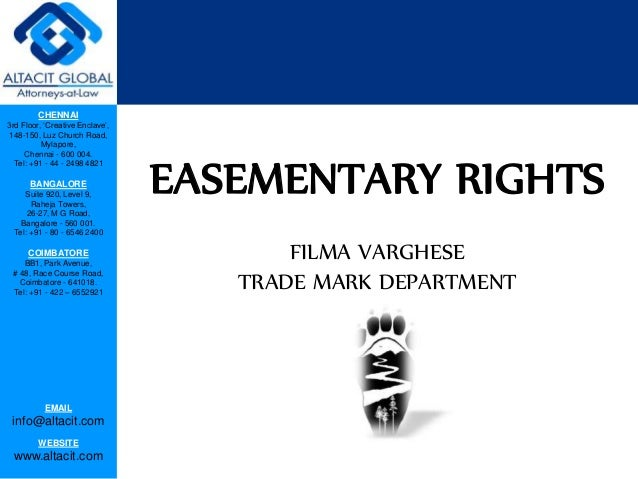 Easementary rights