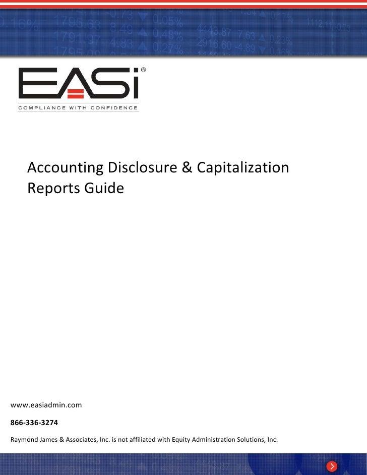 EASi Accounting Disclosure Guide