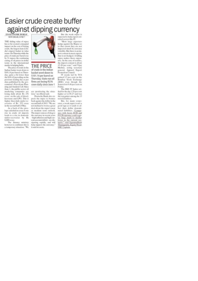 Easier crude create   the financial express 10.06.13