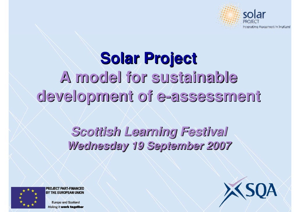 E-Assessment through the SOLAR Project