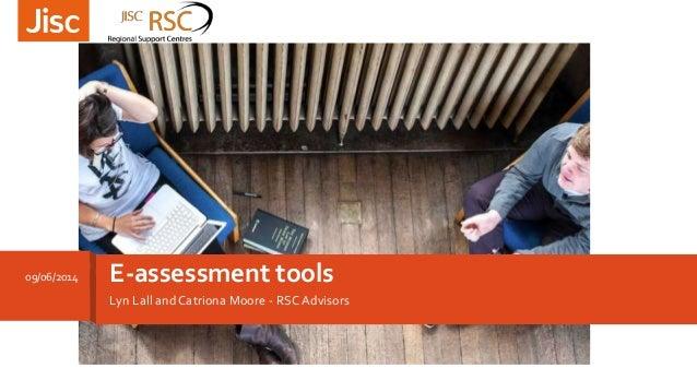 E assessment tools workshop
