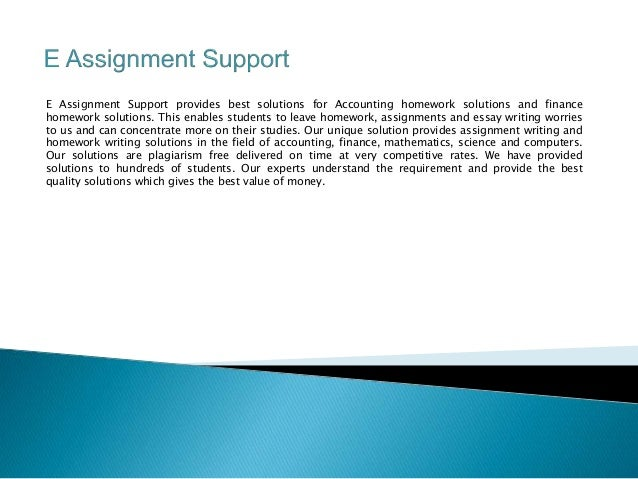 Assignment support