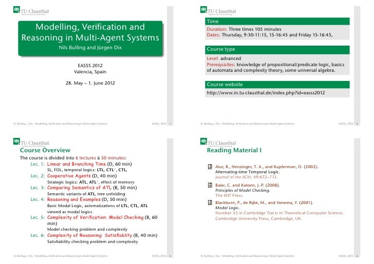 Time         Modelling, Verification and                                                                       Duration: Th...