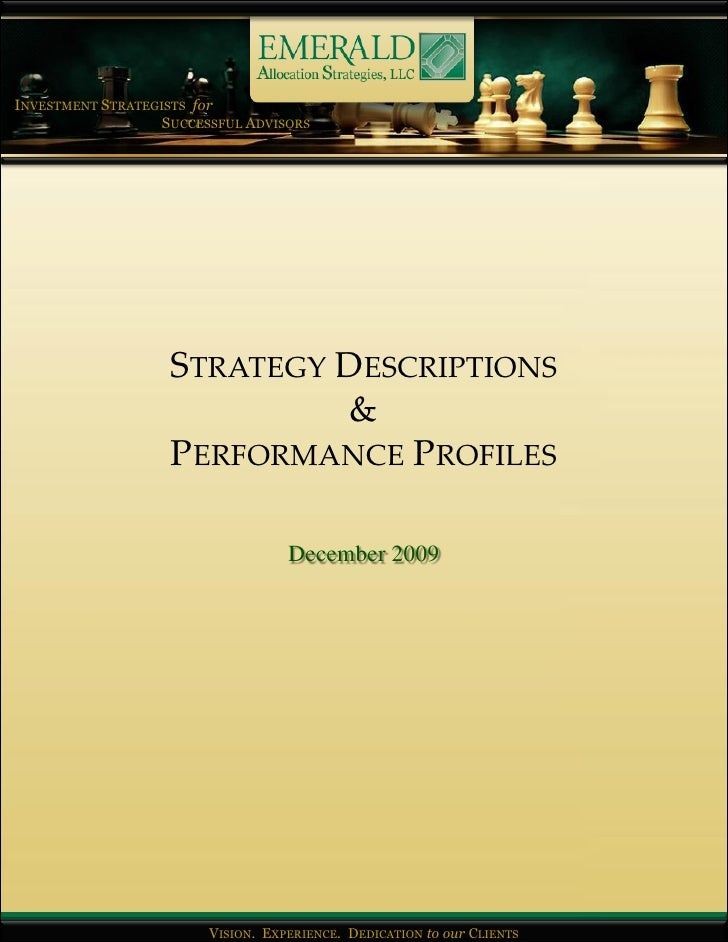 INVESTMENT STRATEGISTS for                    SUCCESSFUL ADVISORS                         STRATEGY DESCRIPTIONS           ...