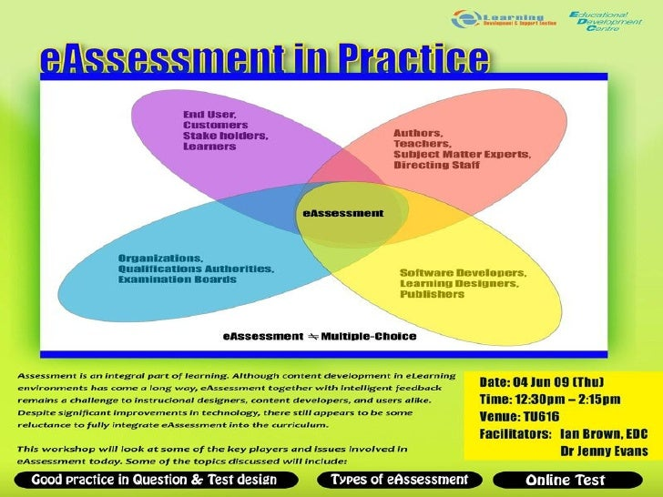 Why assess?   • To support and improve student learning • To test learning outcomes
