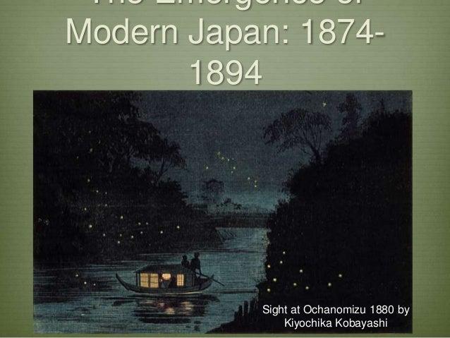 The Emergence ofModern Japan: 1874-1894Sight at Ochanomizu 1880 byKiyochika Kobayashi
