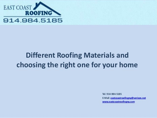 Different Roofing Materials And Choosing The Right One For