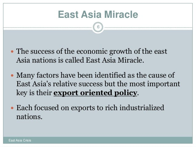 east asian economic miracle again Asked