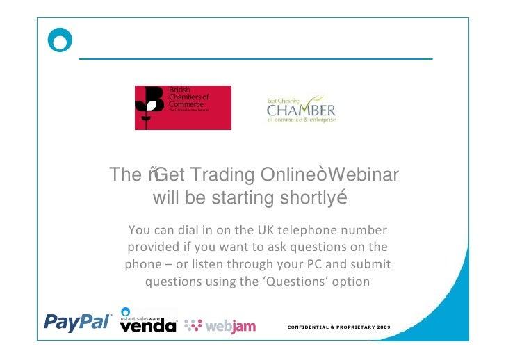 East Cheshire Get Trading Online Slidedeck