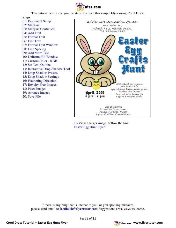 Corel Draw Tutorials: Easter Egg Hunt Flyer