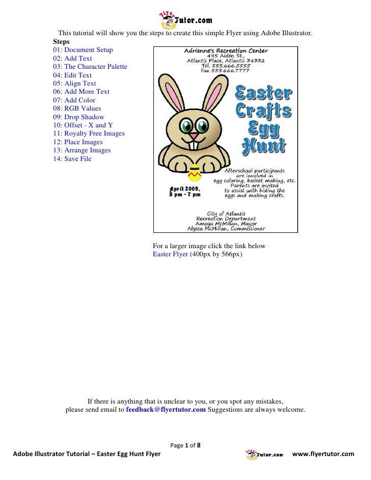 Adobe Illustrator Tutorials: Easter Egg Hunt Flyer