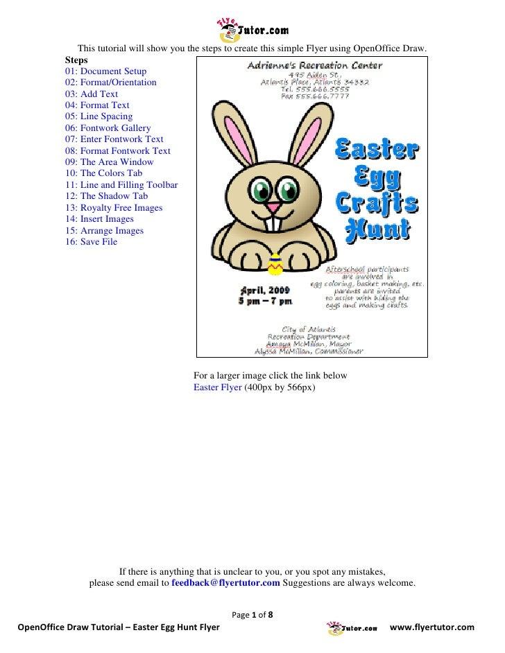 OpenOffice Draw Tutorials: Easter Egg Hunt Flyer