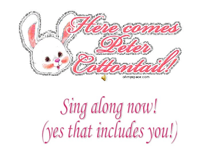 Sing along now! (yes that includes you!)