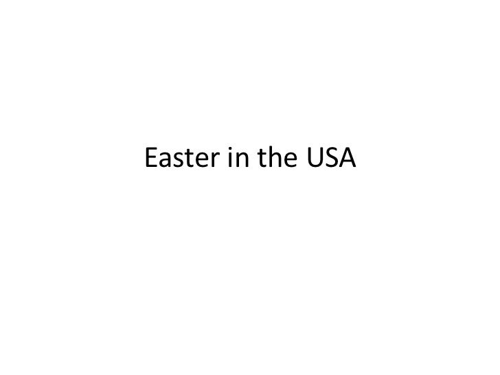 Easter in the USA<br />