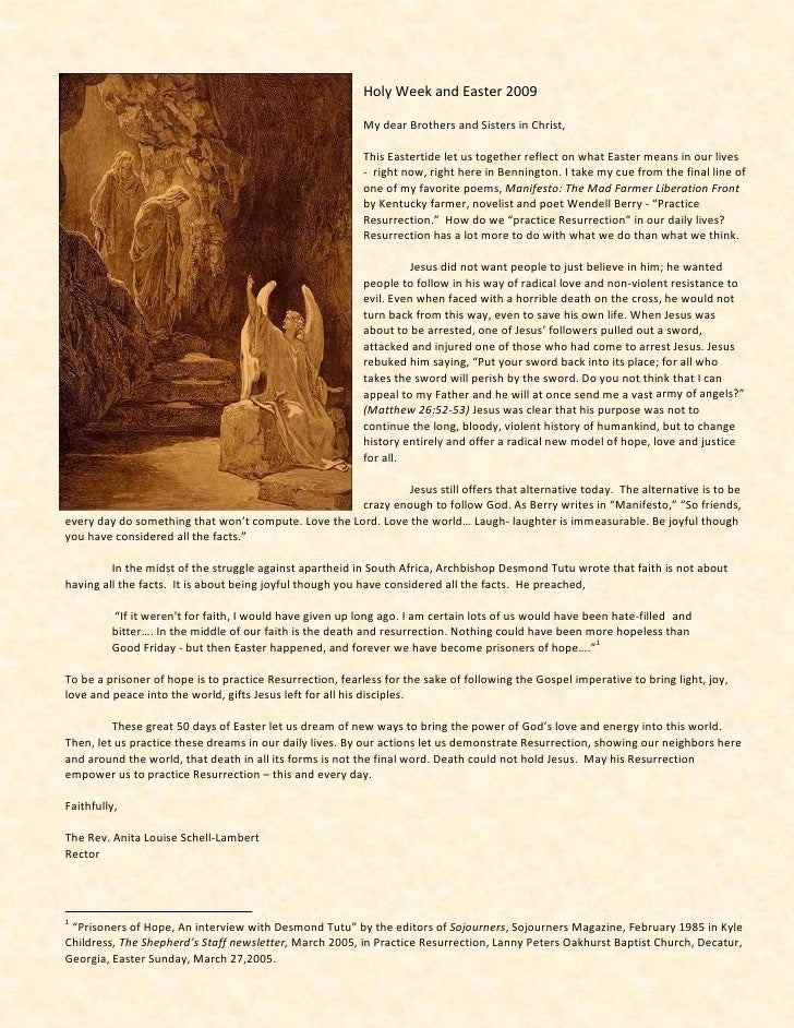 Easter Letter