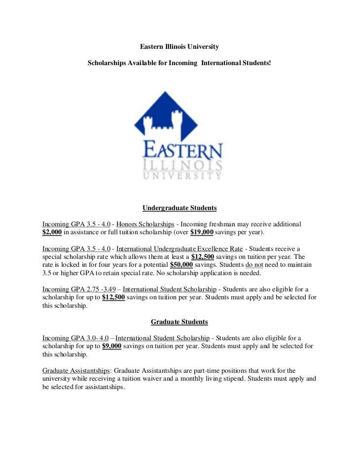 Eastern Illinois University - Scholarships 2012 -2013