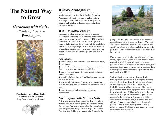 Gardening with Native Plants - Eastern Washington