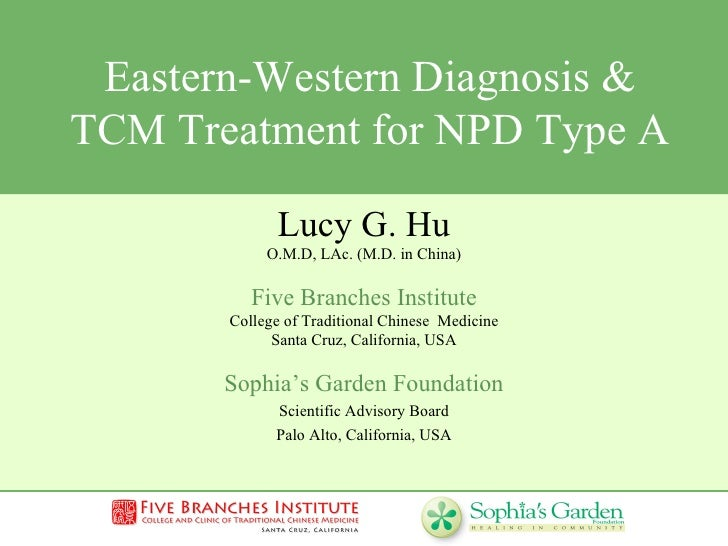 Eastern-Western Diagnosis & TCM Treatment for NPD Type A  Lucy G. Hu O.M.D, LAc. (M.D. in China) Five Branches Institute C...