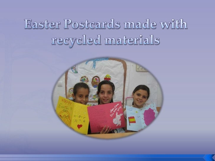 EasterPostcardsmadewithrecycledmaterials<br />