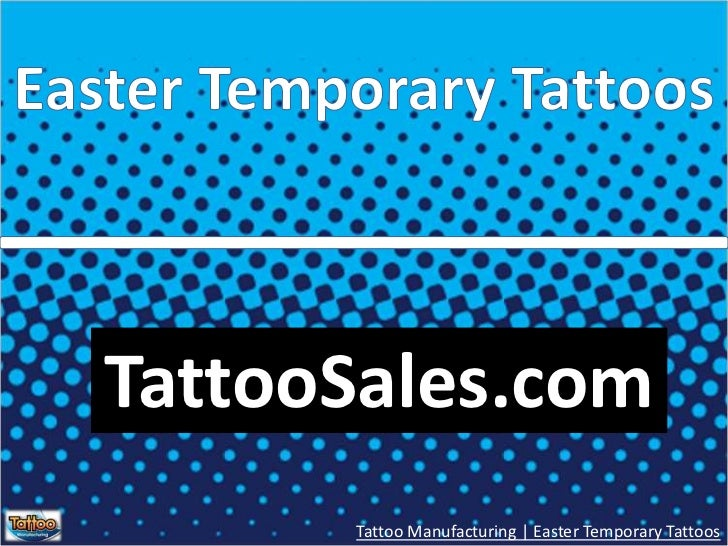 Easter Temporary Tattoos<br />TattooSales.com<br />