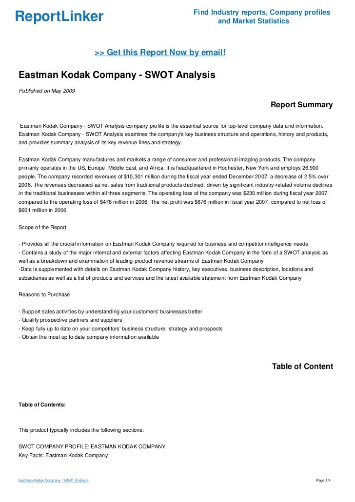 eastman kodak harvard case study