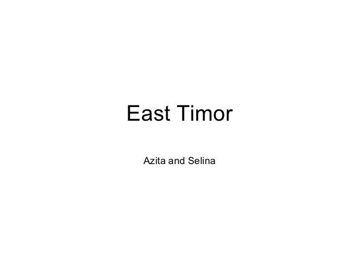 East Timor Azita and Selina