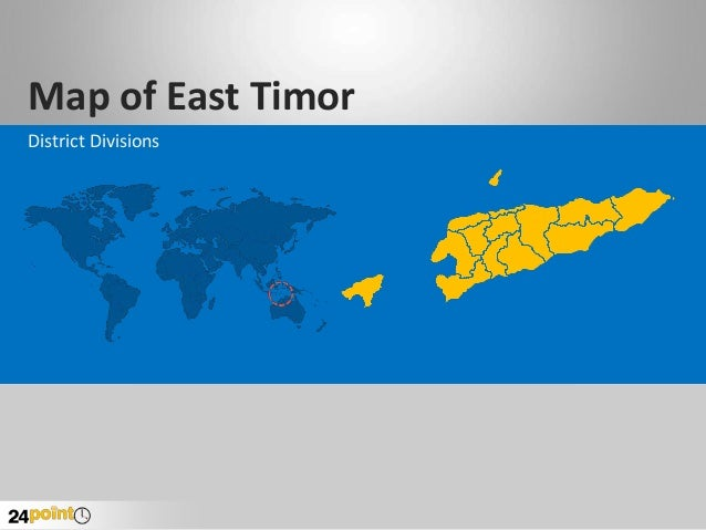 Map of East Timor District Divisions