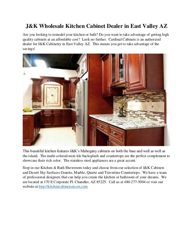 East valley wholesale kitchen cabinet dealer j k gilbert for J kitchen wholesale