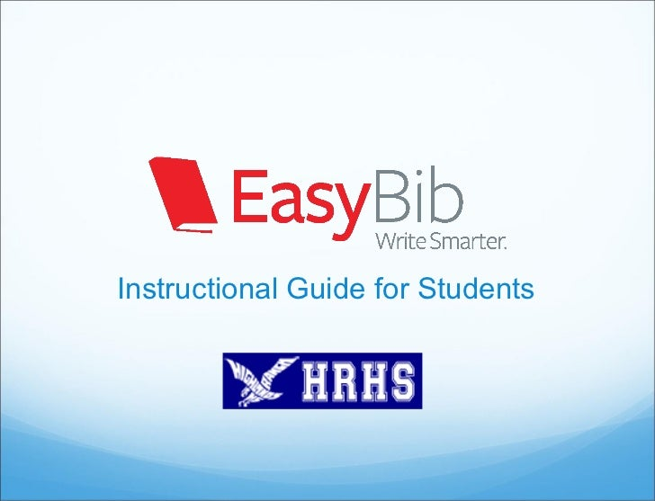 Instructional Guide for Students