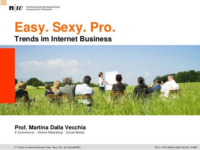 CAS ECOM | Kick Off | Martina Dalla Vecchia © 2009 Hochschule für Wirtschaft | 12013 | Prof. Martina Dalla Vecchia, FHNW1 ...