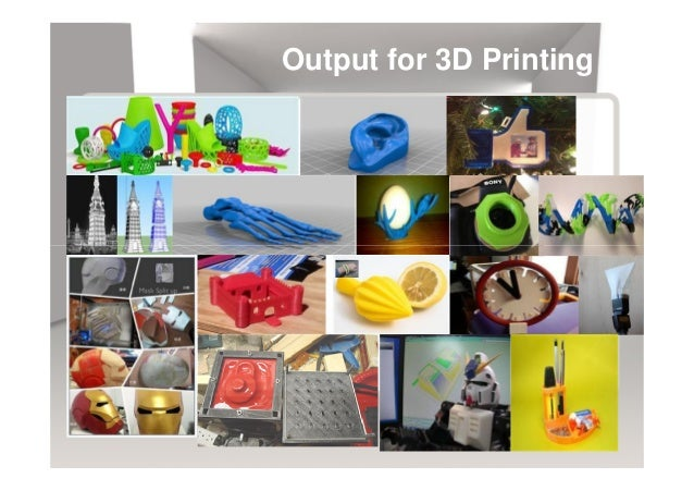 Output for 3D Printing