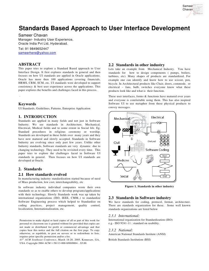 Standards based software UI design, Easy6