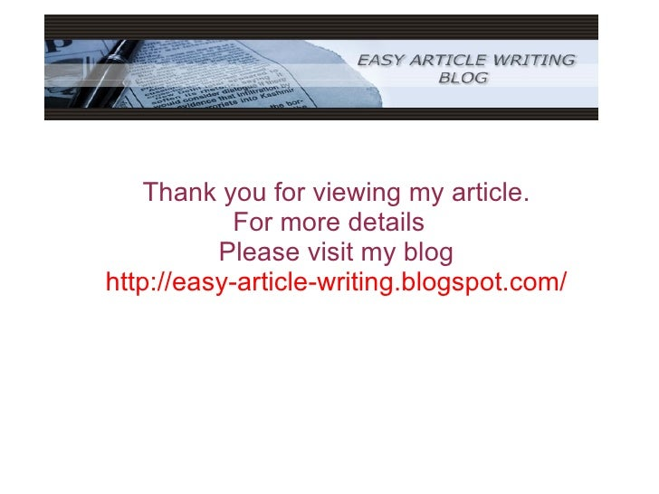Steps in writing an article
