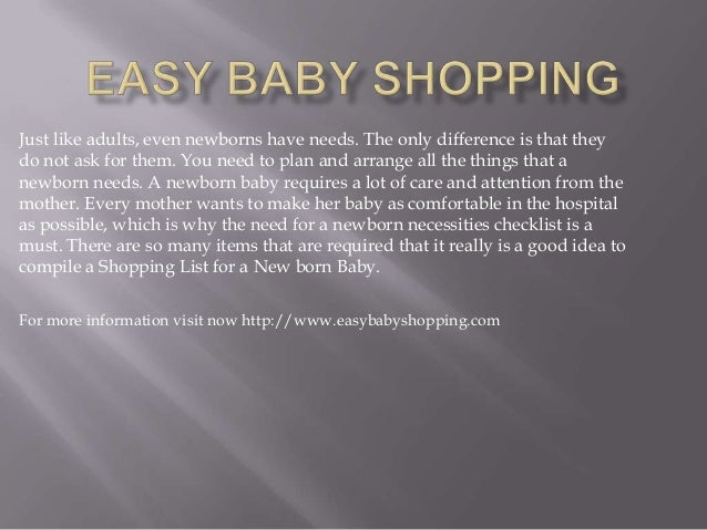 Easy baby shopping