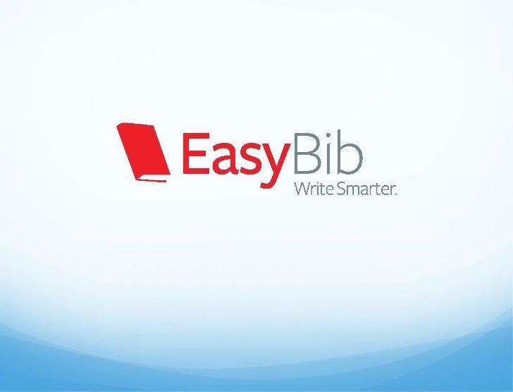 Easybib manual entry