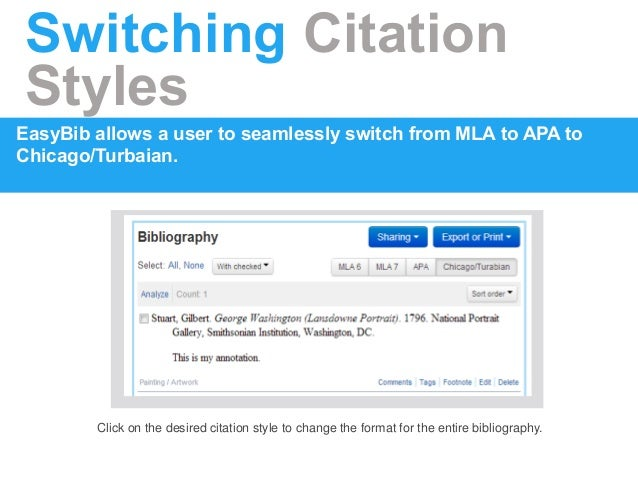 apa format easy bib Fastest and free - bibsorg makes bibliographies easy download your mla, apa or chicago style bibliography for free.