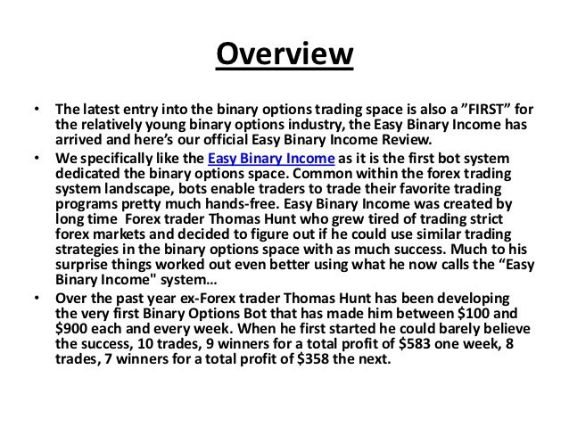 Binary options api software