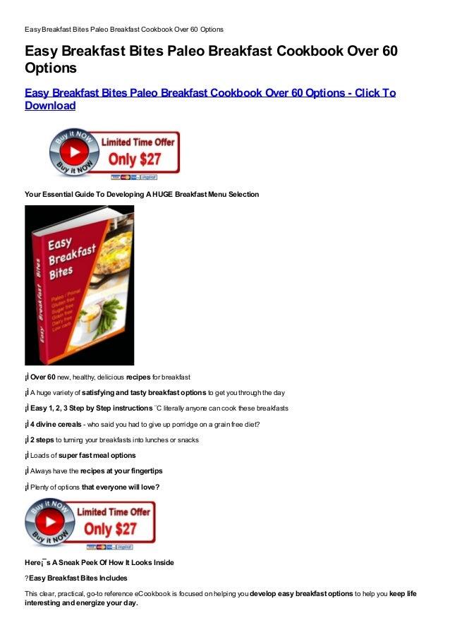 Easy breakfast bites  paleo breakfast cookbook over 60 options