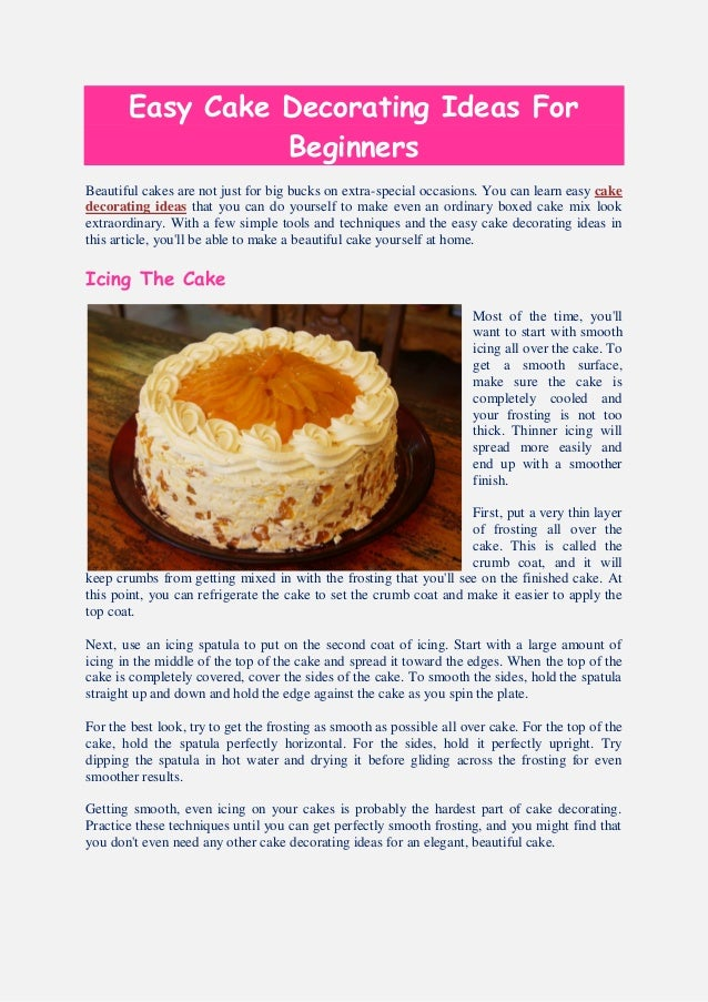 Cake Decorating Made Easy Free Download : Easy Cake decorating Ideas - Learn how to decorate ...
