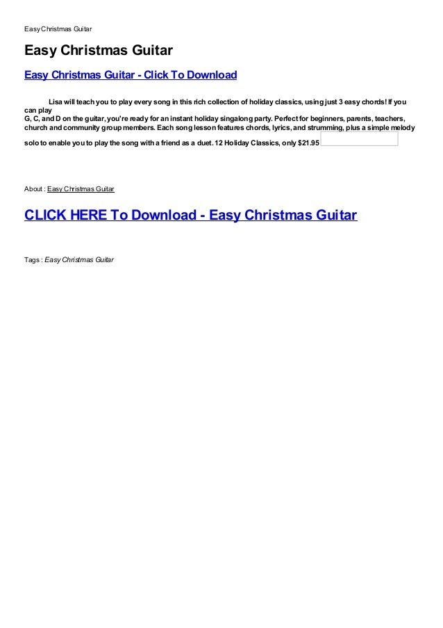 Easy Christmas GuitarEasy Christmas GuitarEasy Christmas Guitar - Click To DownloadFree, Buy, Full Version, Cracked, Free ...