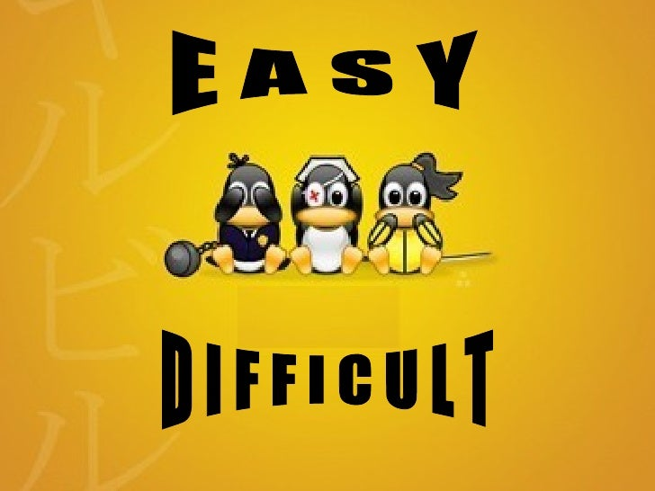Easy...Difficult