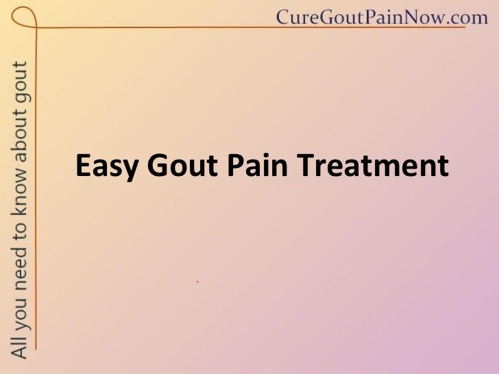 Treatment for gout symptoms foot